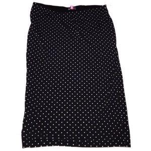 M black white polka dot Vince Camuto skirt